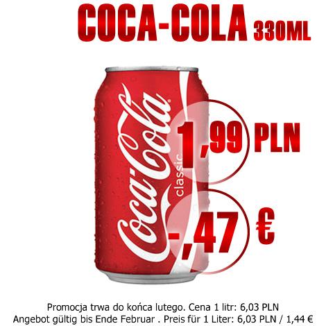 COCA-COLA PUSZKA DOSE 330ML 1.99 PLN