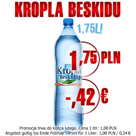 WASSER WODA KROPLA BESKIDU 1,75L 1,75 PLN